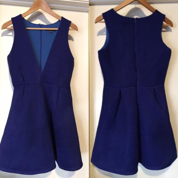 Missguided Dresses & Skirts - Missguided Blue Mesh Scuba Dress